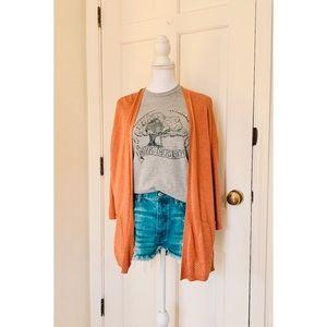 Old Navy | Orange Open Cardigan Sweater
